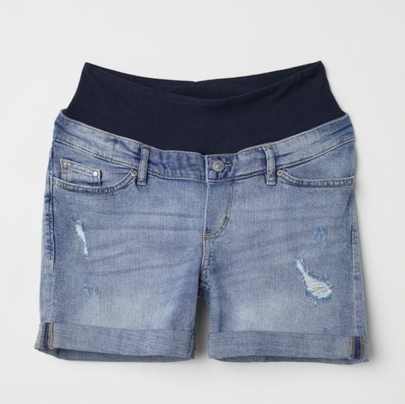 e561575221 H&M Shorts | Mama Boyfriend Denim Maternity Small | Poshmark